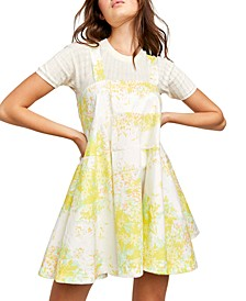 Let The Sunshine In Print Cotton Dress