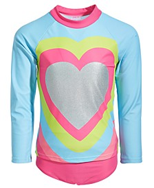 Toddler Girls 2-Pc. My Beating Heart Rash Guard Set
