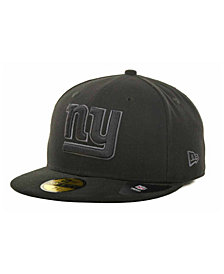 New Era New York Giants Black Gray 59FIFTY Hat