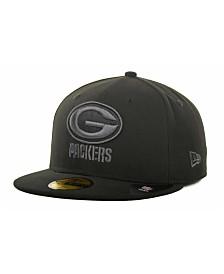 New Era Green Bay Packers Black Gray 59FIFTY Hat