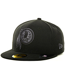 New Era Washington Redskins Black Gray 59FIFTY Cap