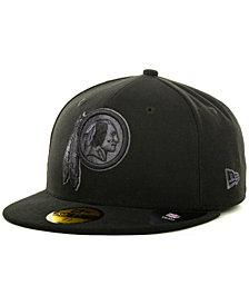 New Era Washington Redskins Black Gray 59FIFTY Cap
