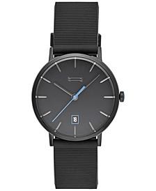 Men's Norrebro Black Leather Strap Watch 40mm