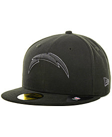 New Era Los Angeles Chargers Black Gray 59FIFTY Cap