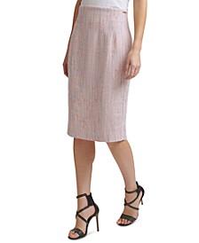 Tweed High-Waist Pencil Skirt