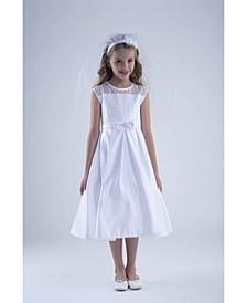 Big Girls Sleeveless A-Line Communion Dress