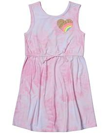 Little Girls Cinched Tie Waist Tank Top Dress
