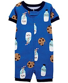 Baby Boys Milk and Cookies Romper Pajamas