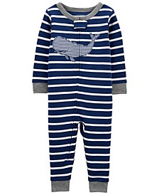 Baby Boys Whale Footless Pajamas