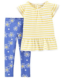 Baby Girls Daisy Tee and Legging Set, 2 Pieces