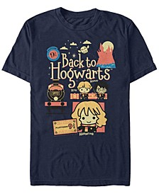 Men's Cute Train Short Sleeve Crew T-shirt