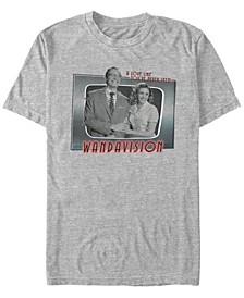 Men's Live Action WandaVision Romantic Couple Short Sleeve T-shirt