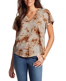 Carly Tie-Dyed Flutter-Sleeve Tee