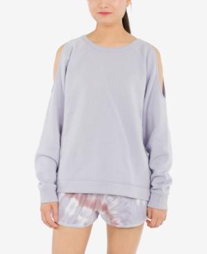 Juniors' Cold-Shoulder Sweatshirt