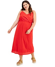 Plus Size Eyelet Midi Dress, Created for Macy's