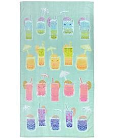 Tiki Velour Beach Towel, Created for Macy's
