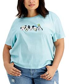 Trendy Plus Size Disney Faces-Graphic T-Shirt