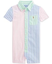 Ralph Lauren Baby Boys Striped Cotton Oxford Sunsuit