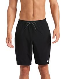 Men's Swim Logo Tape Racer Volley Shorts