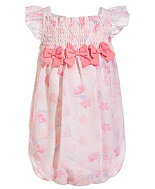 Baby Girls Floral-Print Bubble Sunsuit, Created for Macy's