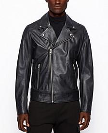 BOSS Men's Jabin Asymmetrical Biker Jacket