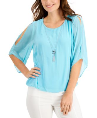 Bubble-Hem Necklace Top, Created for Macy's