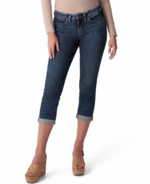 Silver Jeans Co. Denims TRENDY PLUS SIZE SUKI MID-RISE CAPRI JEANS