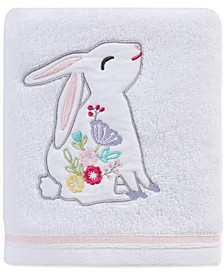 """Spring Bunny 16"""" x 28"""" Hand Towel, Created for Macy's"""