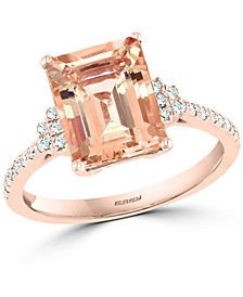 EFFY® Morganite (2-7/8 ct. t.w.) & Diamond (1/6 ct. t.w.) in 14k Rose Gold