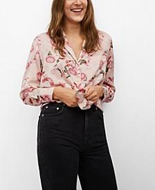 Women's Oriental Print Shirt