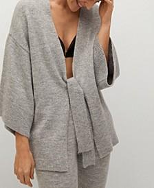 Women's Belt Knit Cardigan