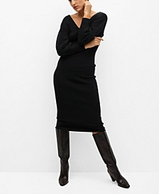 Women's Ribbed Jersey Dress