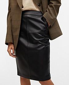 Women's Faux Leather Pencil Skirt