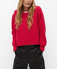 Women's Puffed Sleeves Sweater