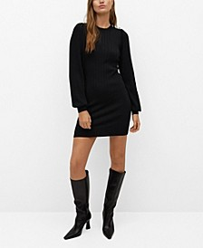 Women's Button Knit Dress