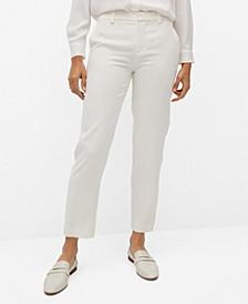Women's Suit Cropped Pants