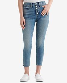 Bridgette Button-Fly Skinny Jeans