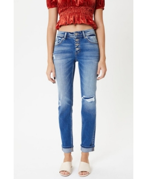 Women's Mid Rise Straight Jeans