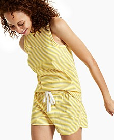 Cotton Striped Cutaway Tank Top, Created for Macy's