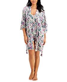 Up All Night Heavenly Soft Wrap Robe, Cami & Shorts 3pc Pajama Set, Created for Macy's