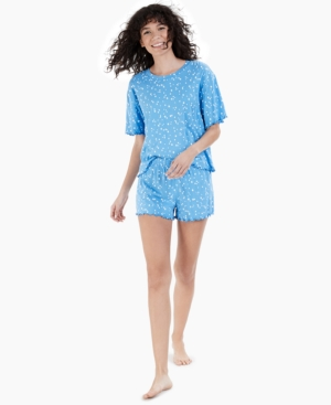 Lettuce-Edge Shorts 2pc Pajama Set