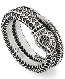 Snake Coil Statement Ring in Sterling Silver
