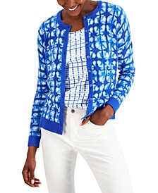 Printed Button-Front Cardigan, Created for Macy's