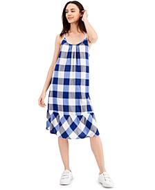 Gingham Sleeveless Dress, Created for Macy's
