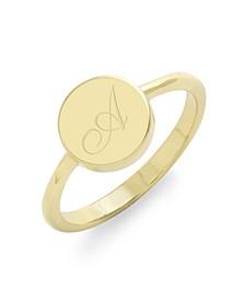 Annie Initial Coin Ring