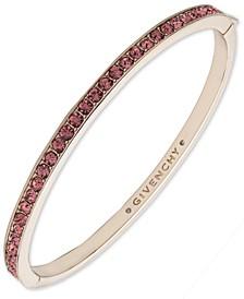 Gold-tone and Rose Crystal Bangle Bracelet