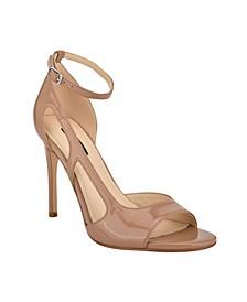 Women's Dance Cut Out Stiletto Dress Sandals