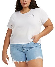 Trendy Plus Size Cotton Graphic-Print Surf T-Shirt