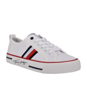 Tommy Hilfiger WOMEN'S GLORIE LACE UP SNEAKERS WOMEN'S SHOES