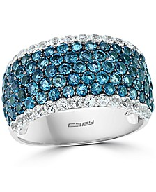 EFFY® Blue & White Topaz Statement Ring (3-1/2 ct. t.w.) in Sterling Silver
